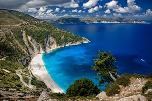 Relax on Myrtos Beach, Greece