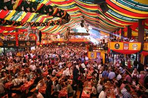 Drink Beer at Oktoberfest in Munich, Germany