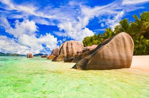 Relax on Anse Source d'Argent Beach, La Digue, Seychelles