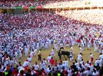 In Pamplona during San Fermin after the running of the bulls.